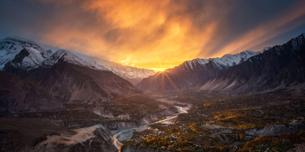 Eagle Nest Sunset Duaker Hunza Valley | Click Pakistan - Tourism Services