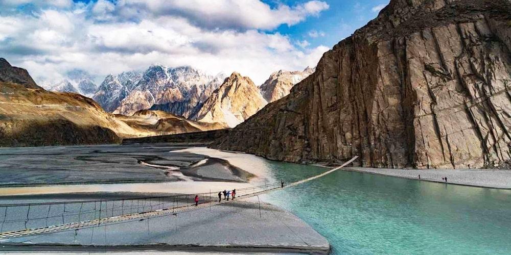 Hussaini Suspension Bridge Hunza Valley | Click Pakistan